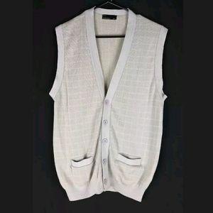American Apparel Windowpane Knit Vest